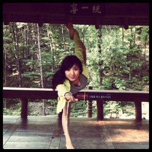 Peng Ting performing Yoga